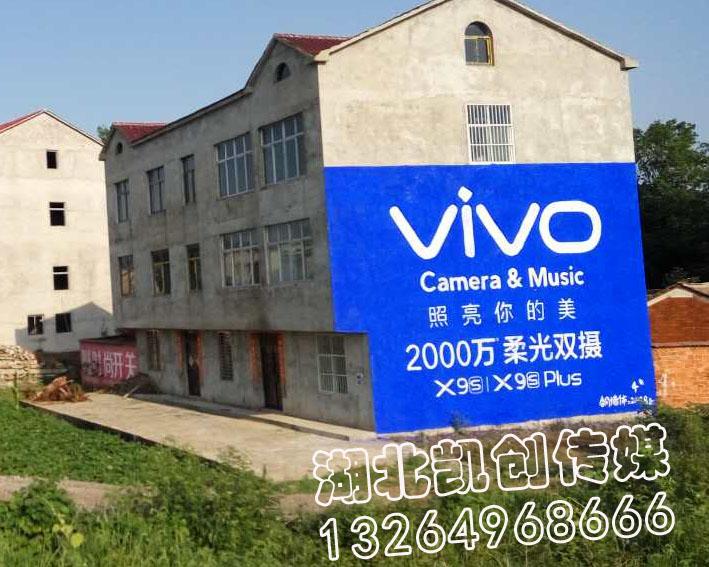VIVO荆门地区墙体广告