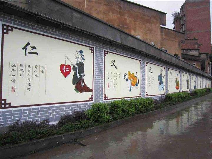 京山某社区文化墙彩绘