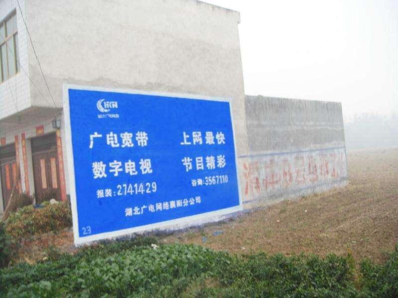 钟祥广电乡镇户外墙体广告