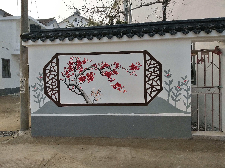 钟祥某社区文化墙墙体彩绘