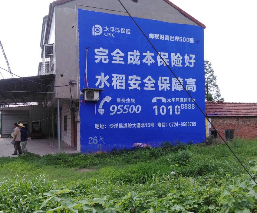 太平洋保险墙体广告