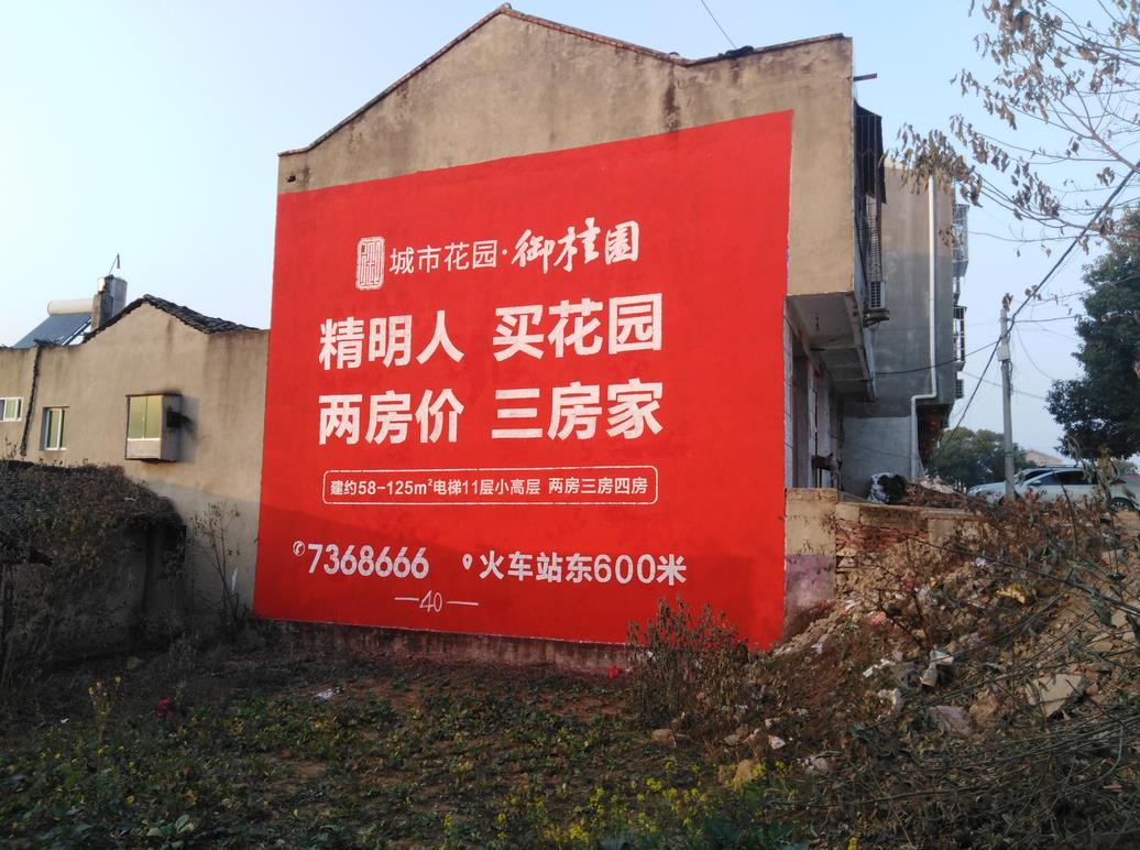 京山城市花园墙体广告
